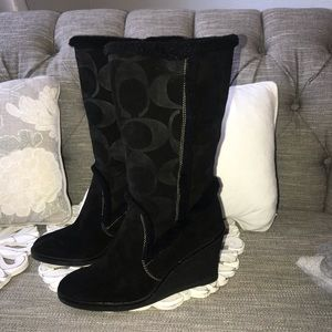 Coach Jordana Wedge Heels Boots Woman's 9.5